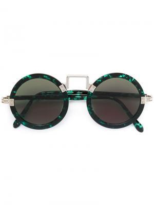 Солнцезащитные очки в круглой оправе Jean Paul Gaultier Pre-Owned. Цвет: зеленый
