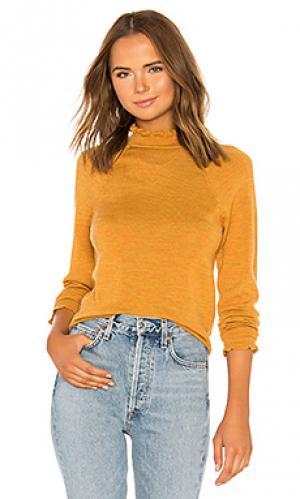 Пуловер needle and thread merino Free People. Цвет: горчичный
