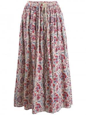 Юбка с цветочным принтом Antik Batik. Цвет: бежевый