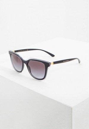 Очки солнцезащитные Dolce&Gabbana DG4362 53838G. Цвет: черный