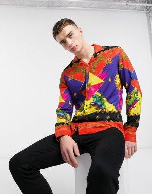 Разноцветная рубашка с длинными рукавами -Мульти Criminal Damage