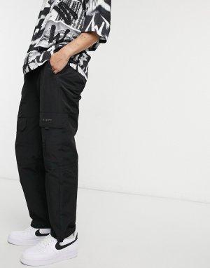 Черные спортивные брюки карго Quatro-Черный цвет Nicce