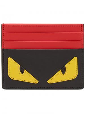 Визитница Bag Bugs Fendi. Цвет: красный