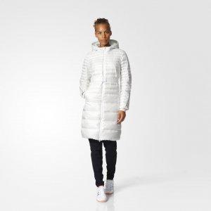 Утепленное пальто Timeless Athletics adidas. Цвет: белый