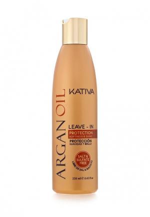 Кондиционер для волос Kativa Оживляющий с маслом Арганы 250 мл. Цвет: белый