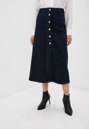 Юбка джинсовая Trussardi Jeans. Цвет: синий