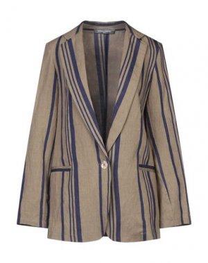 Пиджак SANDRO FERRONE. Цвет: хаки