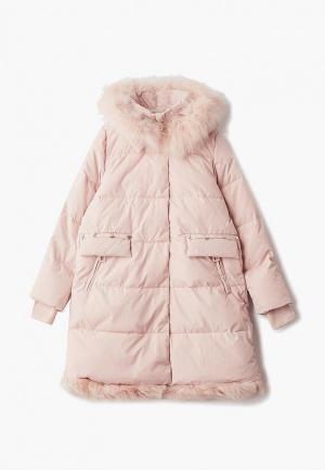 Куртка утепленная Mes ami. Цвет: розовый