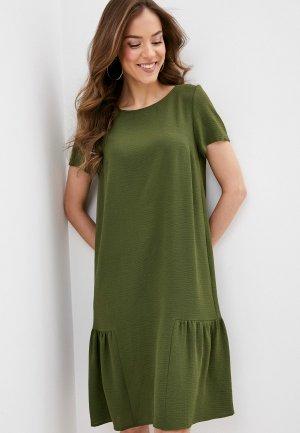 Платье Argent. Цвет: хаки