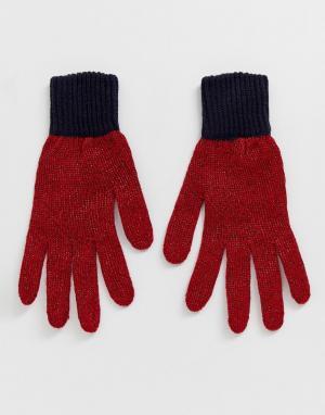 Перчатки Tommy Jeans. Цвет: темно-синий