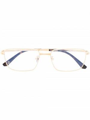 Очки в прямоугольной оправе Cartier Eyewear. Цвет: золотистый