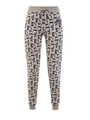 Спортивные брюки с жаккардовым принтом all-over KENZO. Цвет: бежевый
