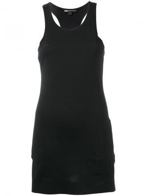 Длинная майка Y-3. Цвет: чёрный