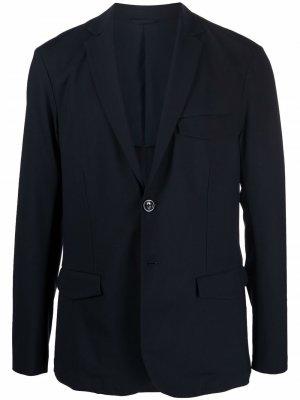 Однобортный пиджак Emporio Armani. Цвет: синий