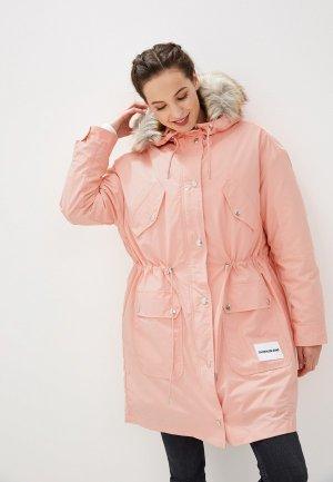 Парка Calvin Klein Jeans. Цвет: розовый
