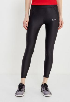 Тайтсы Nike WOMENS SPEED 7/8 RUNNING TIGHTS. Цвет: черный