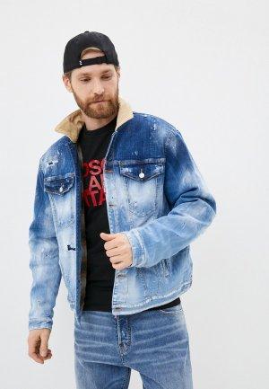 Куртка джинсовая Dsquared2. Цвет: голубой