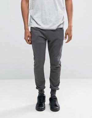 Трикотажные штаны Firetrap. Цвет: черный