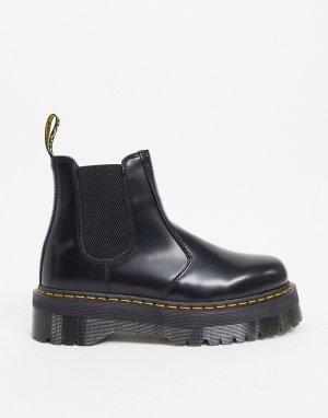 Черные ботинки челси на платформе 2976 Quad-Черный Dr Martens