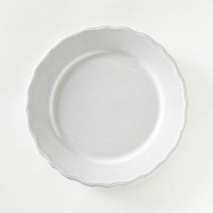 Комплект из 4 тарелок, AJILA La Redoute. Цвет: белый