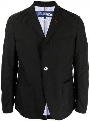 Пиджак строгого кроя Junya Watanabe MAN. Цвет: черный