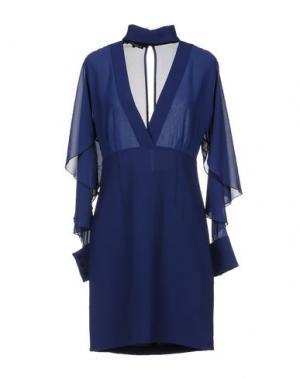 Короткое платье ANNARITA N. Цвет: темно-синий