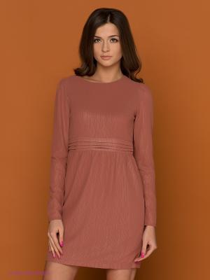 Платье Bonsui. Цвет: светло-коричневый
