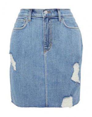 Джинсовая юбка L'AGENCE. Цвет: синий