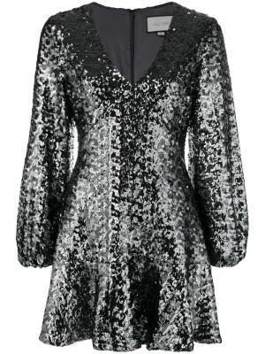 Приталенное платье с расклешенной юбкой пайетками Alexis