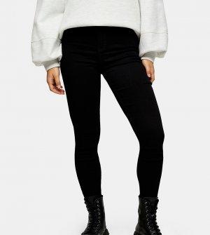 Зауженные джинсы черного цвета Petite Joni-Черный цвет Topshop