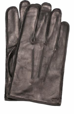 Кожаные перчатки Polo Ralph Lauren. Цвет: черный