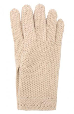 Кашемировые перчатки Inverni. Цвет: бежевый