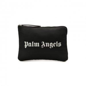 Текстильный футляр для документов Palm Angels. Цвет: чёрный