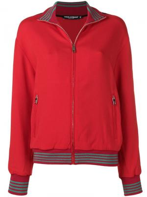 Куртка-бомбер на молнии Dolce & Gabbana. Цвет: красный