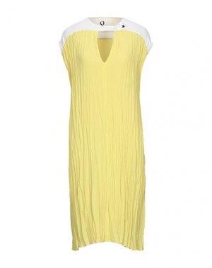 Платье миди 8PM. Цвет: желтый