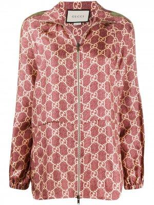 Куртка с узором GG Supreme Gucci. Цвет: красный