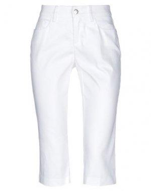 Джинсовые брюки-капри MARCIANO. Цвет: белый