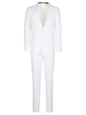Белый классический костюм ETRO