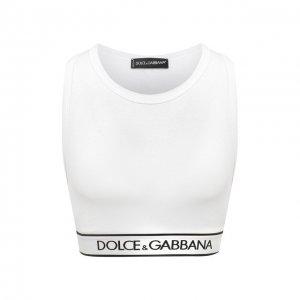 Хлопковый топ Dolce & Gabbana. Цвет: белый