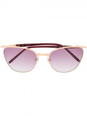 Солнцезащитные очки в оправе кошачий глаз Matsuda. Цвет: коричневый