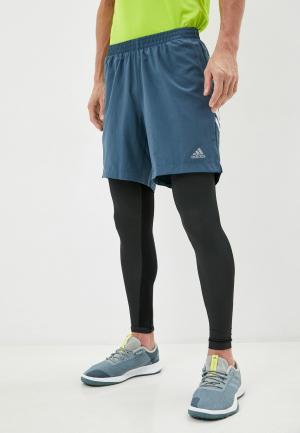Шорты спортивные adidas RUN IT 3S SHORT. Цвет: синий