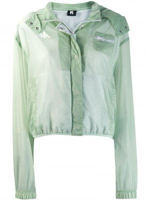 Куртка с длинными прозрачными рукавами Kappa Kontroll. Цвет: зеленый