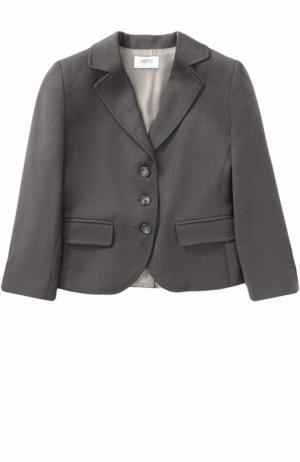 Однобортный пиджак с бантом Aletta. Цвет: серый