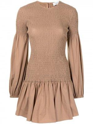 Платье-трапеция Kora A.L.C.. Цвет: коричневый