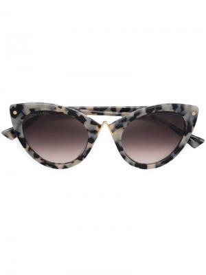 Солнцезащитные очки в оправе кошачий глаз Altuzarra. Цвет: белый
