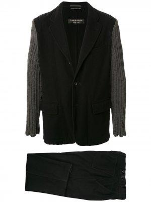 Костюм-двойка с трикотажными рукавами Junya Watanabe Comme des Garçons Pre-Owned. Цвет: черный