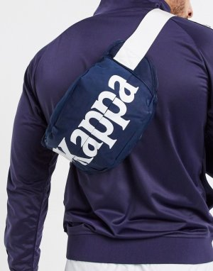 Темно-синяя сумка-кошелек на пояс с крупным логотипом Authentic Cabala-Темно-синий Kappa