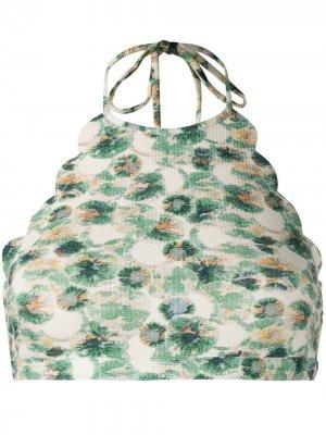Лиф бикини Mott с цветочным принтом Marysia. Цвет: нейтральные цвета
