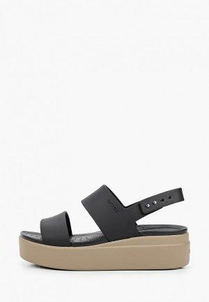 Босоножки Crocs. Цвет: черный