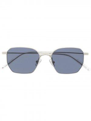 Солнцезащитные очки Bowly в квадратной оправе Gentle Monster. Цвет: синий
